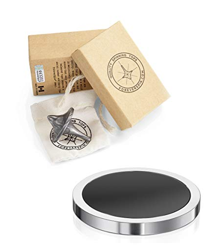 ForeverSpin Damascus Steel Top and Spinning Base Pack - World Famous Spinning Tops by ForeverSpin (Image #5)