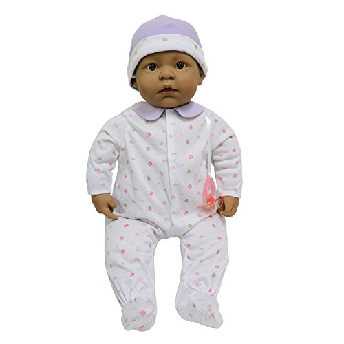 (JC Toys, La Baby Hispanic 20-inch Soft Body in Purple Play Doll - For Children 2 Years Or Older, Designed by Berenguer)