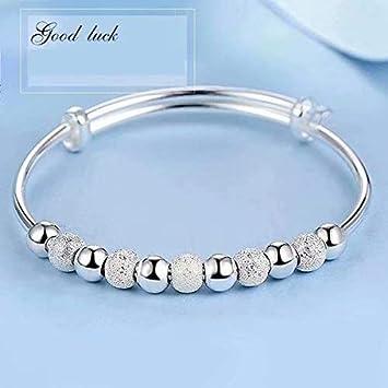 Plateado mujeres de la joyería 925 pulseras de cadena de plata esterlina de plata sólida de pulsera de moda Cuff: Amazon.es: Bricolaje y herramientas