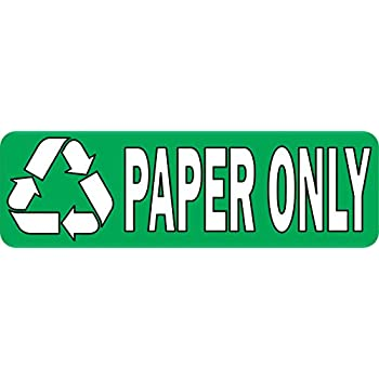 Amazon Com 10in 215 3in Paper Only Recycling Sticker Vinyl