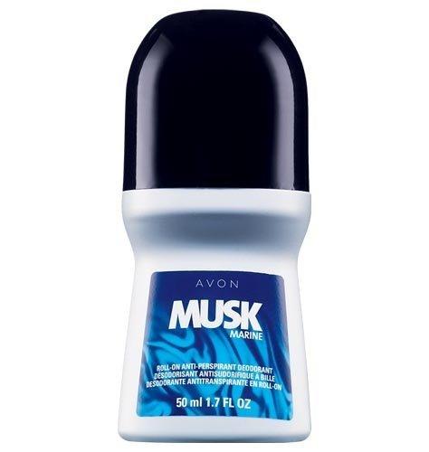 Musk Marine - Set of 4 Avon Musk Marine For Men Roll-On Anti-Perspirant Rolls