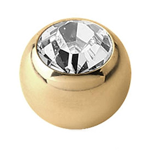 Gold Zircon Swarovski Jewelled Ball - Crystal ()