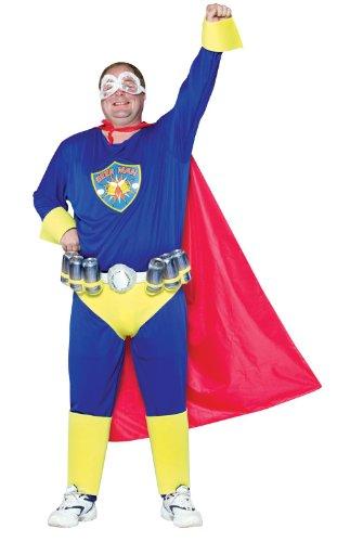 Rasta Imposta Mens Beer Man Adult Costume Plus -
