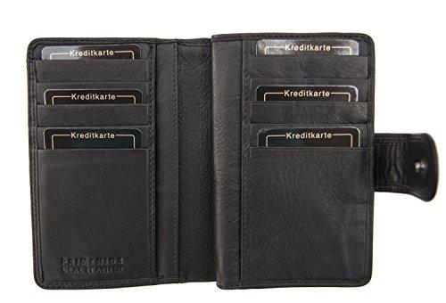 Alva Portemonnaie für Damen, aus weichem Leder, violett (violett) - 486Purple schwarz