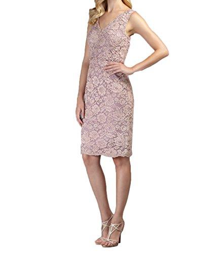 Kleider Jugendweihe Damen Brautmutterkleider Spitze Festlichkleider Abendkleider Knielang Charmant Rosa Pink caOWqfZWY