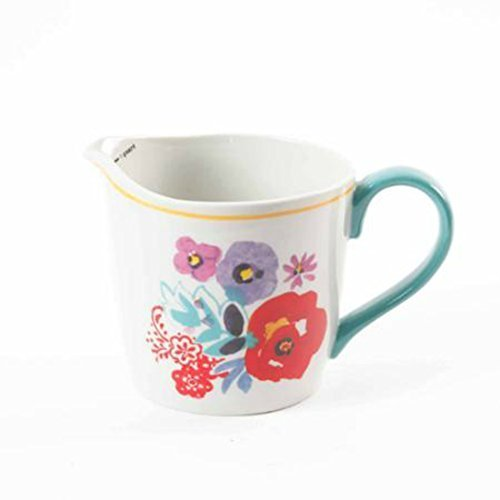 The Pioneer Woman Flea Market Ceramic Decorated Measuring Cup, 4-cup (Pitcher Measuring Quart)