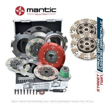 Mantic Track - Kit de embrague para Ford – Mantic Aluminio Billet Cover Mount Twin Cerametallic