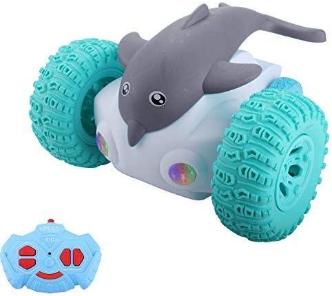 Diantai Coche de Control Remoto RC Dolphin Dancing Devil Fish Dancing Stunt Twisting Car con luz LED Coche de Juguete Robot de Juguete para Regalo para niños