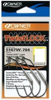 Owner 5167 Weighted Twist Lock 3 Offsethaken mit Spirale f/ür Gummik/öder Angelhaken mit Schraube f/ür Gummifische /& Creature Baits