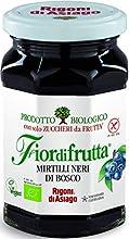 Rigoni di Asiago Fiordifrutta Organic Fruit Spread, Wild Blueberry, 6 Count