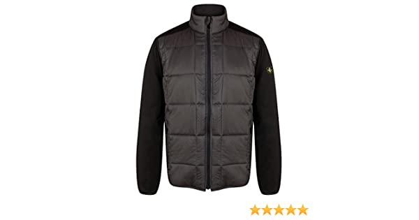 e40ee8157cda Amazon.com   Island Green 2017 Full Zip Thermal Quilted Panelled Mens Golf  Jacket Charcoal Black XXL   Sports   Outdoors