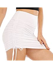 White Pleated Tennis Skirt, White Golf Skirts for Women, Tennis Skirt Womens Athletic Golf Skort Activewear Built-in Shorts Sport Outfits Workout Running Mini Skirts