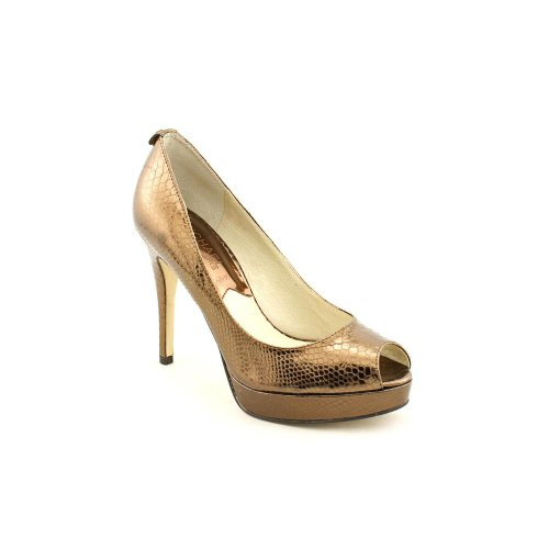 MICHAEL KORS YORK PLATFORM COCOA BRONZE OPEN TOE PUMP WOMEN SIZE 10 - Kors York Michael