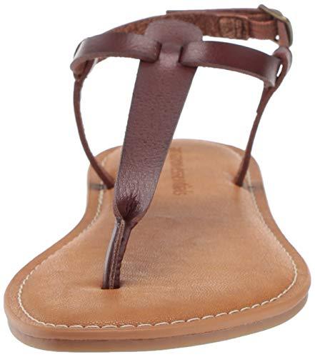 Caviglia Cinturino Alla Donna Strap Casual brown Sandali Spano Con Ankle Brn Essentials Marrone Amazon With Thong Women's Sandal xB76PnOqw