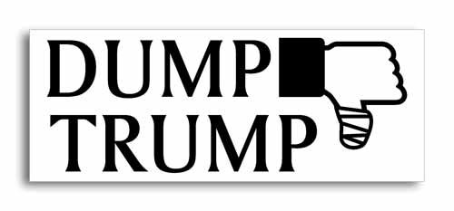 Dump Trump Anti Trump Sticker 7.5-by-3-inch