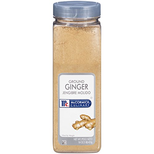 McCormick Culinary Ground Ginger, 12.5 Ounce, Derived from Pure Gingerroot, Culinary-Grade Sweet Spice with the Perfect Sweet Bite, Perfect Addition to Savory Dishes, Baked Goods, Teas and More (Mccormick Ground Ginger)