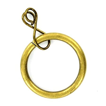 Bulk Hardware BH05390 Curtain Drapery Pole Rod Ring Loose Eye Brass Antique Inner Dimension 35mm Set of 24 Piece