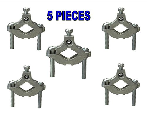 (5 Water Pipe Zinc Ground Clamps Connector 1/2