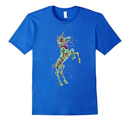 Mens Halloween Scary Unicorn Bloody Novelty T-Shirt Gift Medium Royal Blue
