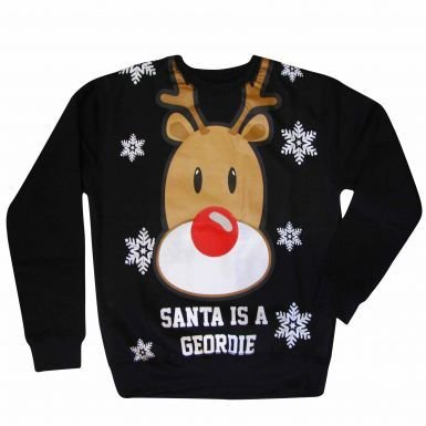 Newcastle Xmas Santa Is A Geordieスウェットシャツ B077FXDYMK 2XL (DOUBLE XXL)
