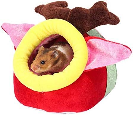 Holywonder Hamster Bed, Hamster de algodón Nido pequeño Animal de compañía Warm Nest de Peluche Navidad Mini pequeño Nido Caliente para Mascotas: Amazon.es: Hogar