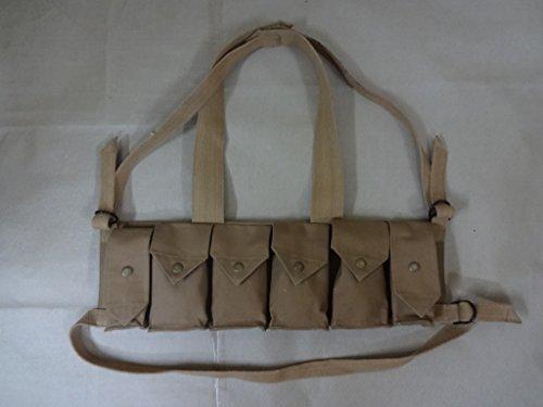 (warreplica Rhodesian FAL / G3 / M14 Bush War Magazine Chest Rig with Grenade Pocket - Reproduction)