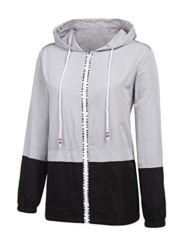 ZEGOLO Women's Raincoats Waterproof Packable Windbreaker Lightweight Active Outdoor Hooded Rain Jacket S-XXL ()