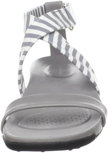 Rockport Jada Qtr Strap Stripe - Sandalias para mujer, color gris