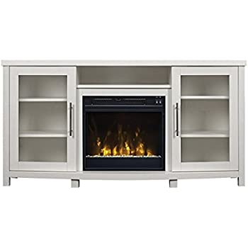 "Buy Pamari 299689 Milena TV Stand with Electric Fireplace for TVs up to 60"" White: Home & Kitchen - Amazon.com ? FREE DELIVERY possible on eligible purchases"