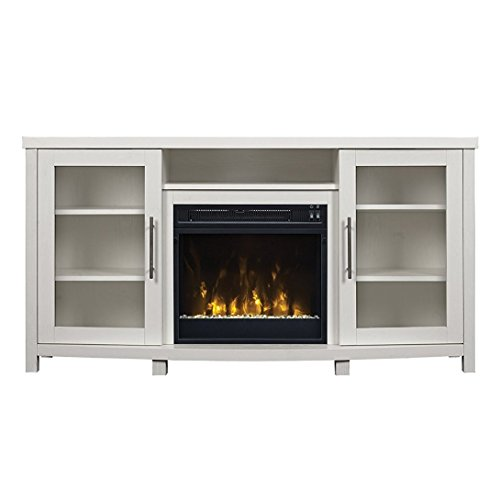 Pamari 299689 Milena TV Stand with Electric Fireplace for TV