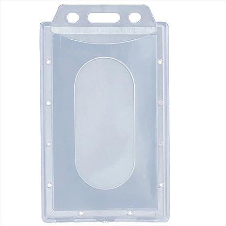 Teabelle - Soporte para Tarjeta de identificación, plástico Duro, Transparente