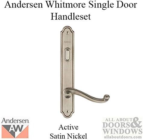 Andersen Whitmore Style Exterior DOOR  Keyed Lock  Left Hand  Bright Brass