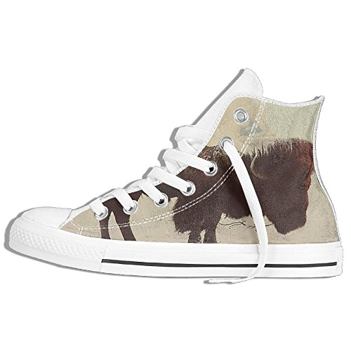 Classic High Top Sneakers Canvas Shoes Anti-Skid Ox Creative Animal Casual Walking For Men Women White lpTQ6P