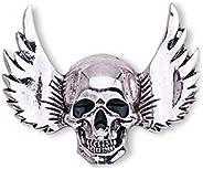 LUOEM Skeleton Brooch Pin Skull Pin Badge Gothic Punk Brooch Gift (Silver)