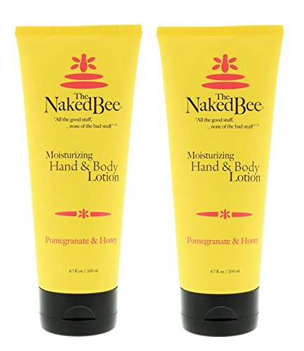 Naked Bee 6.7oz Pomegranate & Honey Hand and Body Lotion (2pk), Natural Personal Care Products