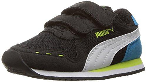 PUMA Kids' Cabana Racer Mesh V Inf Running Shoe, Puma Black-Puma Whit, 10 M US (Kids Puma Shoes)