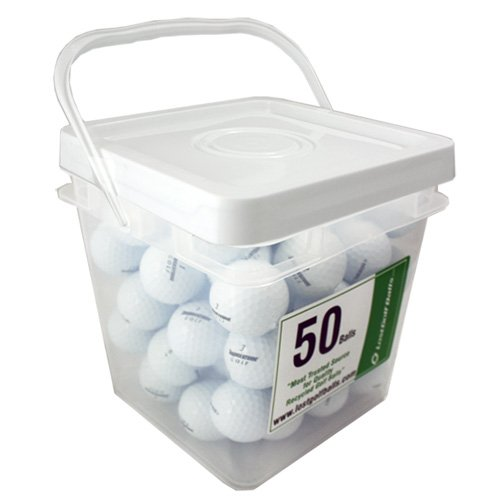 50 BRIDGESTONE B330-S AAAA NEAR MINT USED GOLF BALLS IN FREE BUCKET
