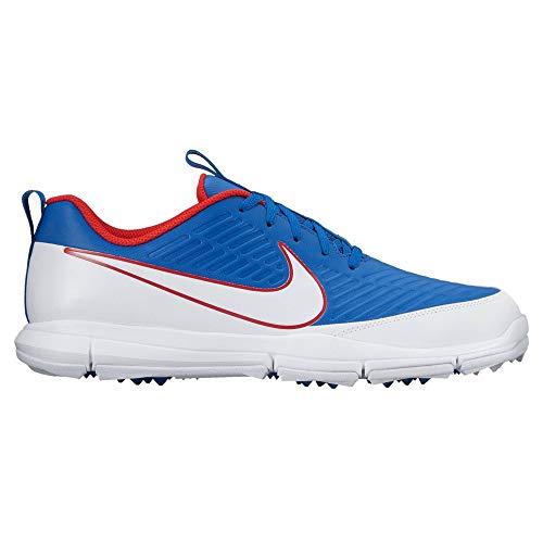 (Nike Explorer 2 Spikeless Golf Shoes 2017 Blue Jay/White/University Red Medium 10)