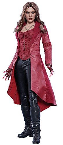 Captain Scarlet Costume Mens (Hot Toys Marvel Captain America Civil War Scarlet Witch 1/6 Scale Figure)