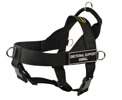 DT Universal No Pull Dog Harness, Emotional Support Animal, Black, Small, Fits Girth Size: 24-Inch to 27-Inch, My Pet Supplies