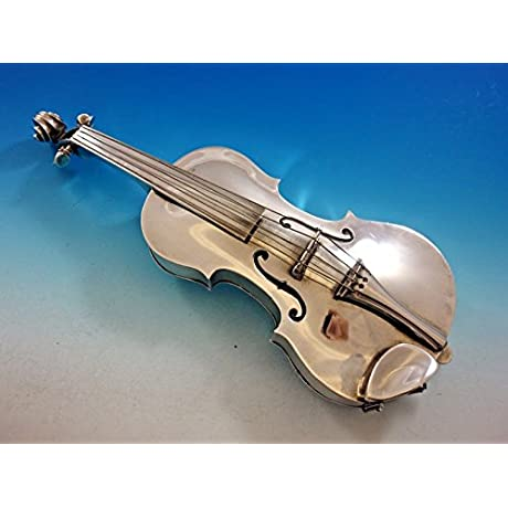 Ole Petersen Sterling Silver Violin With Secret Compartment 1969 11 3 8 Unusual