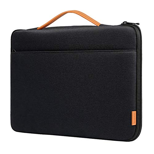 Inateck 15 Inch Laptop Sleeve Shockproof Water-Resistant Case Compatible 15'' MacBook Pro 2018/2017/2016(A1990/A1707), 15.4'' MacBook Pro 2013-2015(A1398) Briefcase Bag - Black