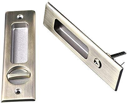 ccjh cerradura de la puerta bloqueo de acero inoxidable para puerta de granero corredera puerta de madera, marrón, Invisible Sliding Barn Door Locks: Amazon.es: Hogar