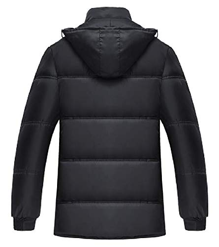 Parka Coat Lined Jacket security Hooded Thick Men's Warm Casual 1 Winter Fleece 0WvwqO8Sx