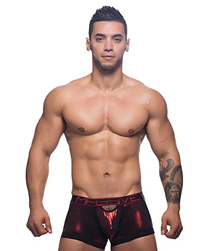 - Andrew Christian Designer Mens Underwear Massive Hotness Boxer Brief Red