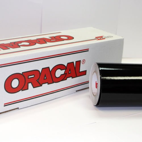 "24"" x 10 Ft Roll of Glossy Oracal 651 Black Vinyl for Craft"