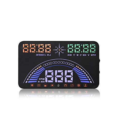 S7 5.8 Inch Car HUD Head Up Display Combine OBD &GPS HUD - Car Alarm & Security Car HUD Display -1 X S7 HUD