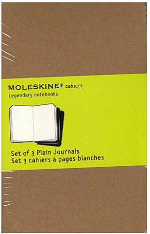 Price comparison product image Moleskine Cahier Journals (Kraft Brown,  Blank) - 3 1 / 2 In. x 5 1 / 2 In. (Pack of 3,  64 Pages Each) 1 pcs sku 1849628MA