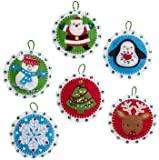 Bucilla Felt Applique Ornament Kit, Christmas Whimsy, 86722 (Set of 6)
