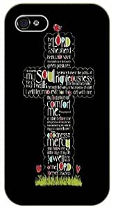 Jesus Christ cross -The Lord is my shepherd - Bible verse For LG G2 Case Cover black plastic case / Christian verses